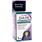 Natrol Fish Oil + Vitamin D3 Health & Immune Support, Softgels