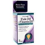 Natrol Fish Oil + Vitamin D3 Health & Immune Support, Softgels- 90 ea