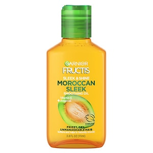 Garnier Fructis Haircare Sleek & Shine Moroccan Sleek Oil Treatment for Frizzy, Dry, Unmanageable Hair- 3.75 fl oz