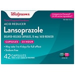 Walgreens Lansoprazole 15 mg Acid Reducer Capsules