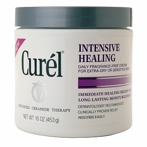 Curel Intensive Healing Cream for Extra-Dry or Sensitive Skin, Fragrance-Free