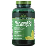 Finest Nutrition Flax Seed Oil 1300 mg Dietary Supplement Softgels- 200 ea