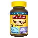 Nature Made Postnatal Multi+DHA 200 mg DHA, Softgels- 60 ea