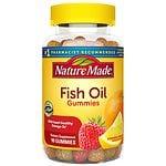 Nature Made Fish Oil Adult Gummies, Pineapple-Orange Peach & Mango- 90 ea