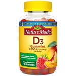 Nature Made Vitamin D3 Adult Gummies, Strawberry, Peach & Mango