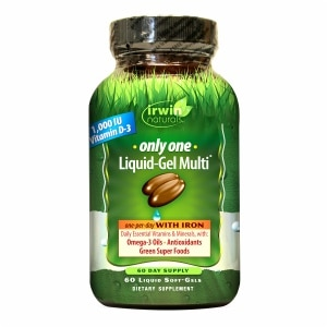 Irwin Naturals Only One Liquid-Gel Multi with Iron, Softgels- 60 ea