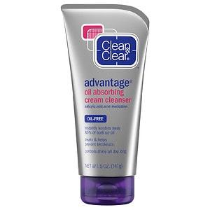 Clean & Clear Advantage Oil-Absorbing Cream Cleanser- 5 oz