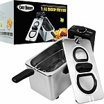 Chef Buddy Electric Deep Fryer Stainless Steel 3.5 Liter- 1 ea