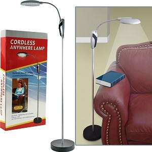 Trademark Home Portable Lamp Stand w/ LED Lights Cordless- 1 ea