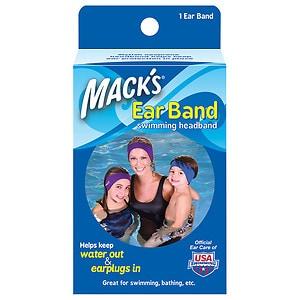 Mack's Ear Band Swimming Headband, Blue/ Purple