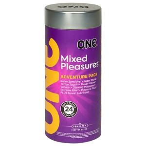 ONE Mixed Pleasures Condoms- 24 ea