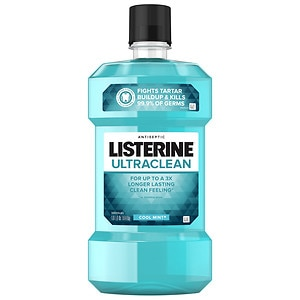 LISTERINE Ultra Clean Antiseptic Mouthwash, Cool Mint