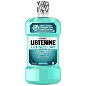 LISTERINE Ultra Clean Antiseptic Mouthwash, Cool Mint- 16 oz