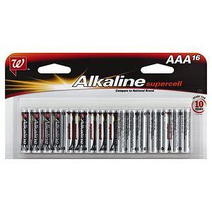 Walgreens Alkaline Supercell Batteries, AAA, 16 ea