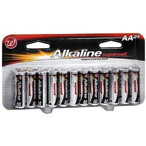 Walgreens Alkaline Supercell Batteries, AA, 24 ea