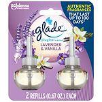 Glade PlugIns Scented Oil Refill, Lavender & Vanilla- 2 ea