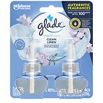 Glade PlugIns Scented Oil Refills, Clean Linen- 2 ea