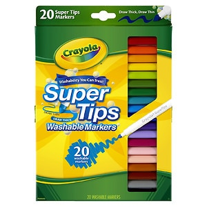 Crayola Super Tips Washable Markers- 20 Each