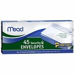 Mead Security Envelopes- 45 Each