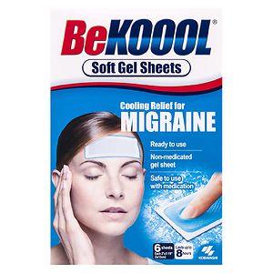 Be Koool Migraine Soft Gel Sheets- 6 ea