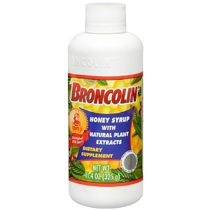 Broncolin Honey Syrup Dietary Supplement, Regular- 11.4 Ounces