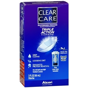 Clear Care Triple Action Cleaning & Disinfecting Solution Travel Pack- 3 fl oz