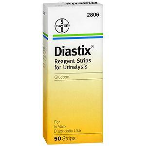 DIASTIX Reagent Strips for Urinalysis- 50 Each