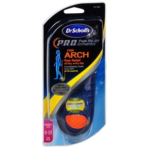 Dr. Scholl's Pain Relief Orthotics for Arch, 6-10- 1 pr