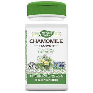 Nature's Way Chamomile Flowers, Capsules- 100 ea