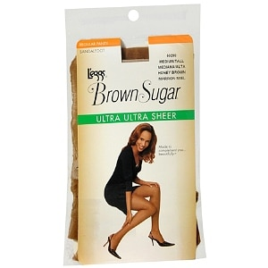L'eggs Brown Sugar Regular Panty Sandalfoot Ultra Ultra Sheer Pantyhose, Honey Brown, Medium/Tall- 1 pr