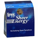 L'eggs Sheer Energy Control Top Sheer Toe Hosiery Size Q Plus