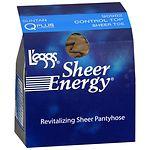 L'eggs Sheer Energy Control Top Sheer Toe Hosiery, Tan, Q Plus- 1 pr
