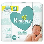 Pampers Stages Sensitive Wipes, Perfume Free, 3 Pack- 192 ea