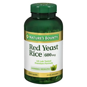 Nature's Bounty Red Yeast Rice 600 mg Dietary Supplement Capsules, 250 Each