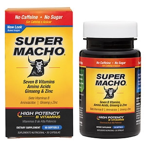 Super Macho Vitality and Stamina Dietary Supplement Softgel- 50 Each