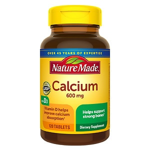 Nature Made Calcium 600 mg Dietary Supplement Tablets, 120 ea
