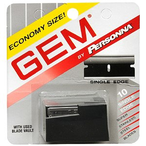 Personna Gem Stainless Steel Single Edge Razor Blades- 10 ea
