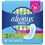 Always Maxi Pads Long Super without Wings- 22 ea
