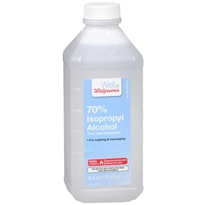 Walgreens Isopropyl Alcohol 70% First Aid Antiseptic, 16 Ounces