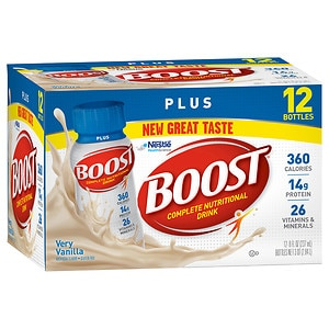 Boost Plus Complete Nutritional Drink, 8 oz Bottles, 12 pk