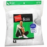 Hanes Men's Ankle Cushion Socks Shoe Size 6-12