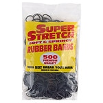 Super Stretch Soft & Springy Rubber Bands- 500 Each