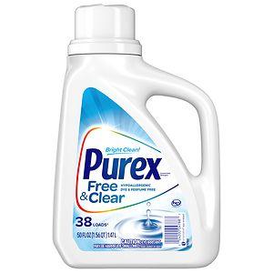 Ultra Purex Laundry Detergent Liquid, Free & Clear- 50 fl oz