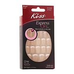 Kiss Express One Minute Manicure Stick-On Nails, Lady, Short Length