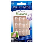 Broadway Nails Fast French Deceptions Glue-On Nails Kit, Conceal, Short Length
