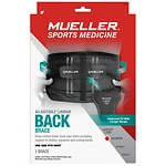 Mueller Sport Care Adjustable Lumbar Back Brace Black Maximum Support Level