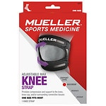 Mueller Sport Care Max Knee Strap, Maximum Support, Model 6479, Black, One Size- 1 ea