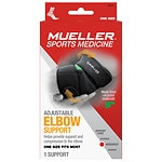 Mueller Sport Care Adjustable Elbow Support, Black, One Size