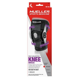 Mueller Sport Care Sport Care Adjustable Hinged Knee Brace, Black, One Size