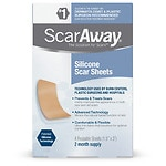 ScarAway Silicone Scar Treatment Sheets, 1.5 x 3 inch- 8 ea